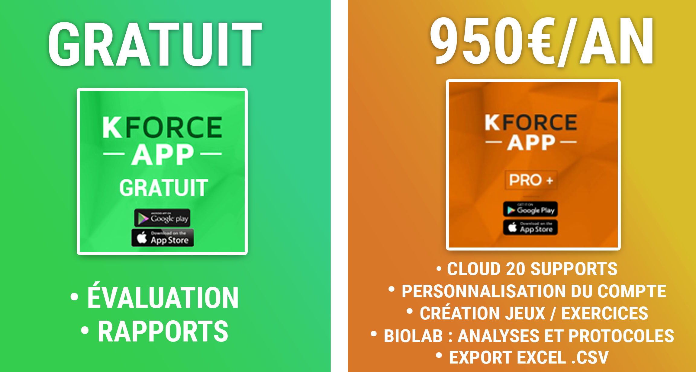 KFORCE disponible sur Google Play / App Store