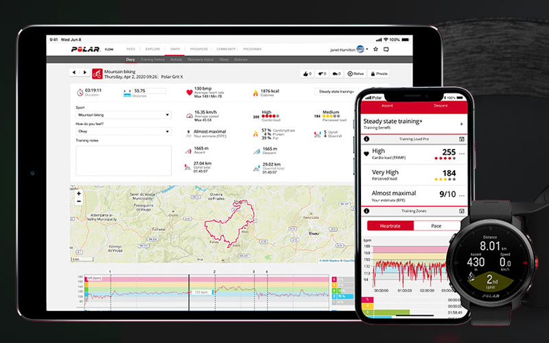 POLAR GRIT X® - MONTRE MULTISPORT OUTDOOR AVEC GPS