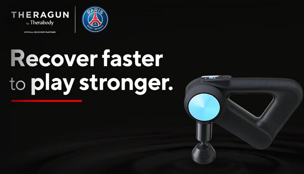 THERAGUN PRO - Pistolet de Massage officiel du Club de Football du Paris Saint-Germain